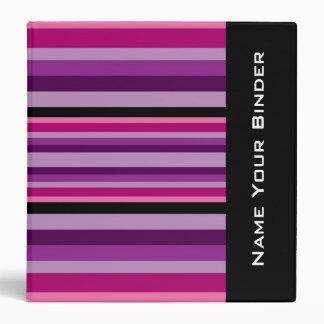 Pink & Purple Stripes Binder