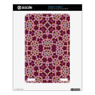 Pink Purple Stylish pattern Decals For The Kindle 2