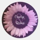 Pink Purple Sunflower Wedding Sticker