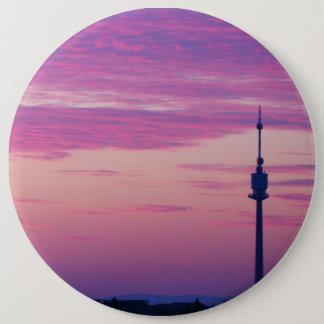 Pink Purple Sunrise In Vienna Austria Button