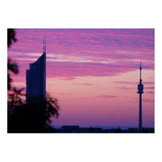 Pink Purple Sunrise In Vienna Austria Large Business Card
