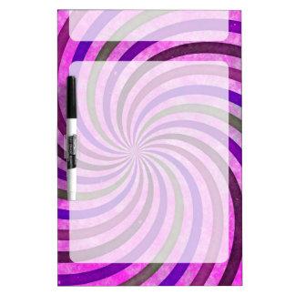 Pink purple swirls pattern dry erase board