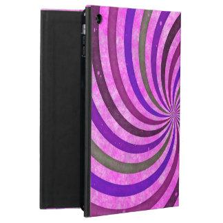 Pink purple swirls pattern iPad air case