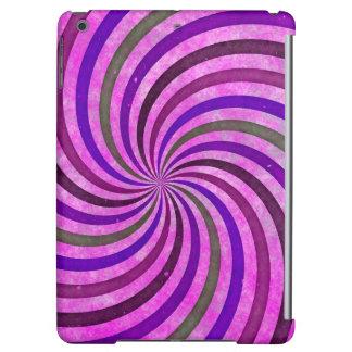 Pink purple swirls pattern iPad air cover