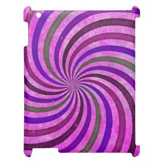 Pink purple swirls pattern iPad case