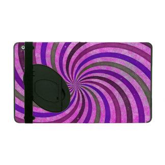 Pink purple swirls pattern iPad cover