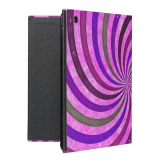 Pink purple swirls pattern iPad folio case