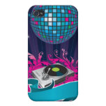 Pink Purple Teal DJ Spin Turntable iPhone 4 Case