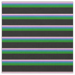 [ Thumbnail: Pink, Purple, Teal, Green & Black Colored Lines Fabric ]