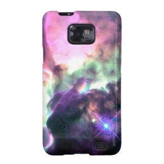 Pink Purple Teal Nebula Galaxy SII Case