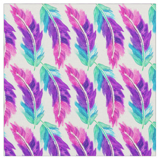 Feather Pattern Fabric Zazzle