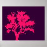 Pink & Purple Tree Poster