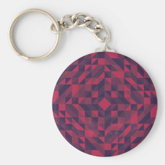 Pink Purple Triangle Pattern Keychain