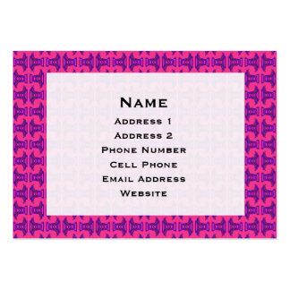 Pink Purple Tribal Stick Pattern Large Business Card