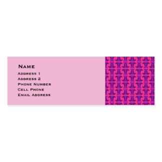 Pink Purple Tribal Stick Pattern Mini Business Card