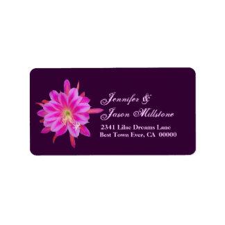 Pink & Purple Tropical Flower Address Label
