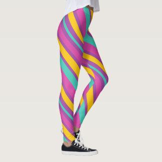 Orange Stripes Leggings & Tights | Zazzle