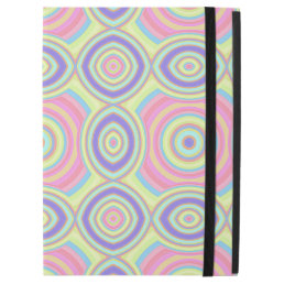 "Pink Purple Turquoise Pastel Retro Circles Pattern iPad Pro 12.9"" Case"