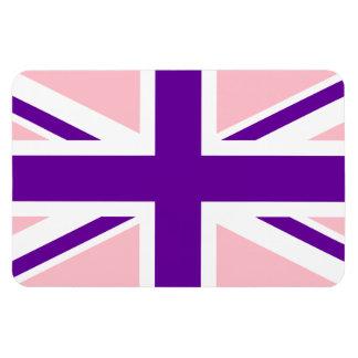 Pink Purple Union Jack Flexible Magnet