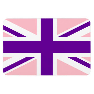 Pink Purple Union Jack Rectangular Photo Magnet