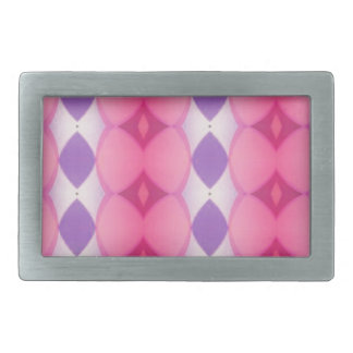 Pink Purple Verticle Modern Shapes Fractal Belt Buckle
