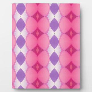 Pink Purple Verticle Modern Shapes Fractal Plaque