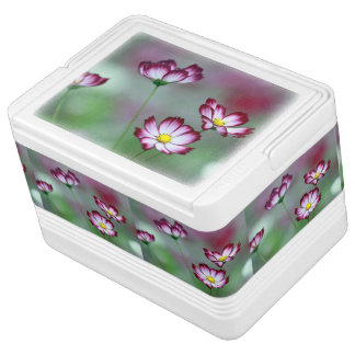 Pink Purple Vines Flowers Blossoms Love Peace Art Igloo Ice Chest