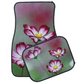Pink Purple Vines Flowers Blossoms Love Peace Art Car Mat