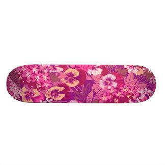 Pink Purple Vintage Floral Sissy Girly Skateboard