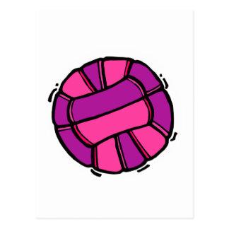 Pink & Purple Volleyball Postcard