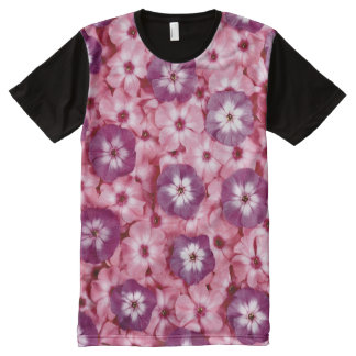 Pink & Purple Wall Flowers All-Over-Print Shirt