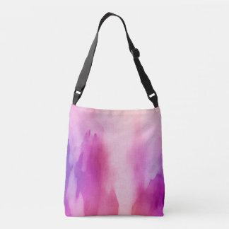 Pink & Purple Water Color Positive Space Crossbody Bag