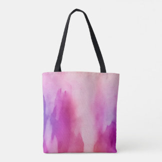 Pink & Purple Water Color Positive Space Tote Bag