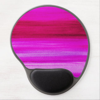 Pink Purple Watercolor Fuchsia Abstract Background Gel Mouse Pad