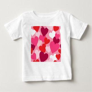 Pink, Purple & White Hearts Design Baby T-Shirt