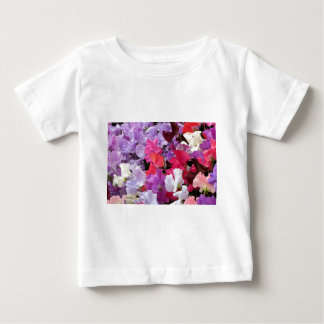 Pink, purple & white Sweet pea flowers in bloom Baby T-Shirt