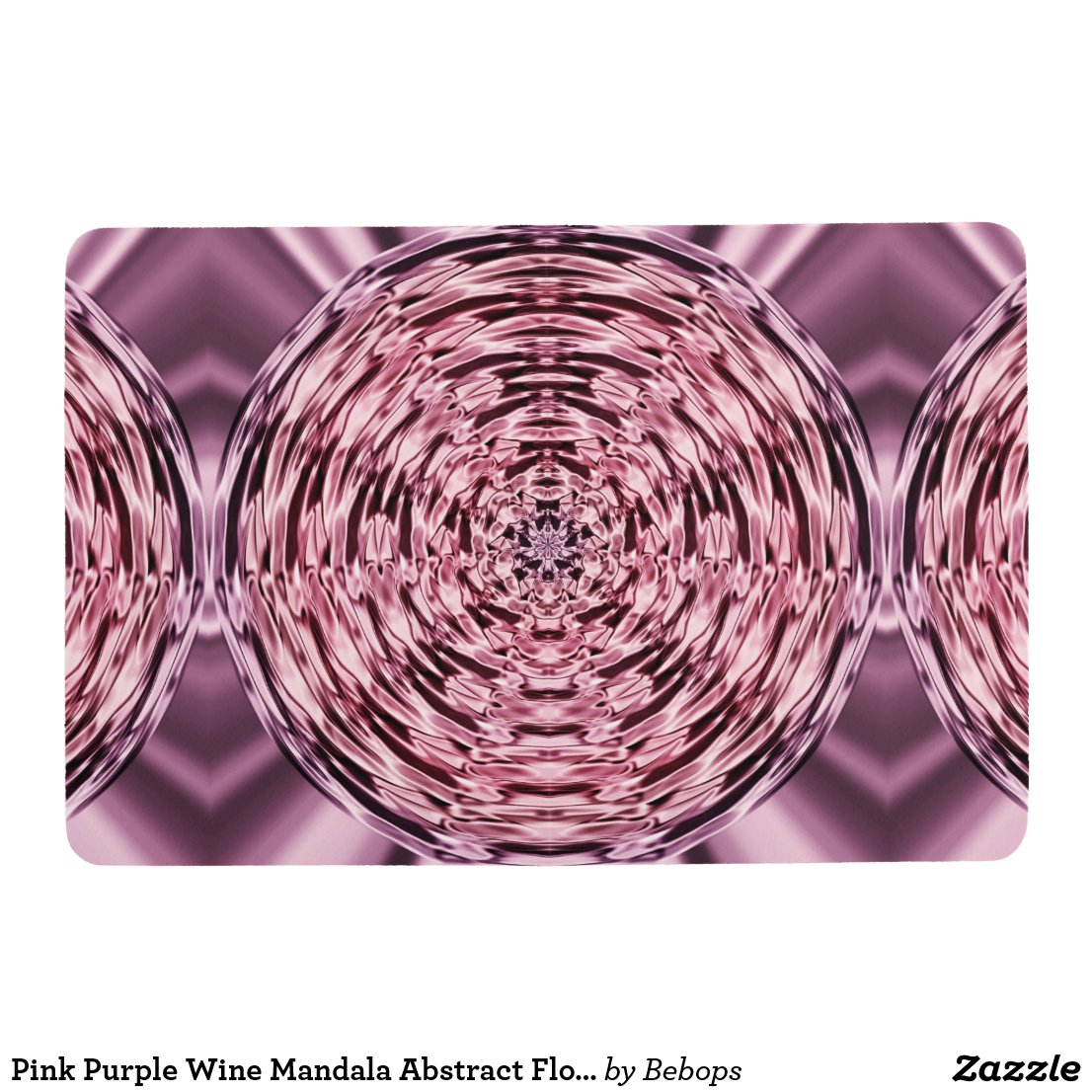 Pink Purple Wine Mandala Abstract Floor Mat