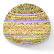 Pink Purple Yellow Lime Green Gold Stripes Art Paperweight