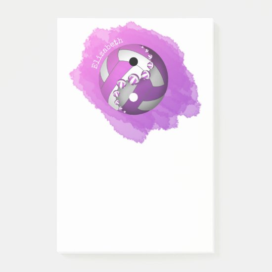 pink purple yin and yang volleyball her name post-it notes