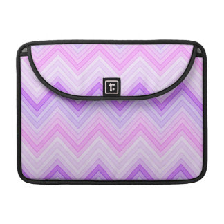 Pink & Purple Zigging Zags Sleeve For MacBook Pro