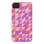 Pink-purplish Retro Pattern iPhone 4 Covers