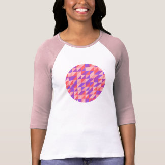 Pink-purplish Retro Pattern T-Shirt