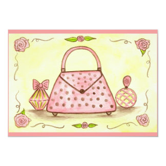 Pink Purse Birthday Shower Party Invitations
