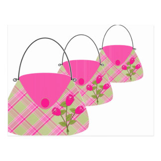 Pink Purse With Green Postcard