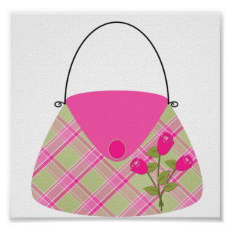 Pink Purse With Green Poster
