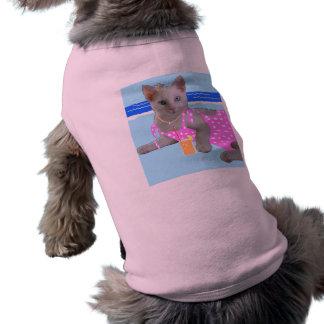 Pink pussy female dog coat tee