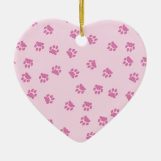 Pink Pwa Prints Ceramic Ornament