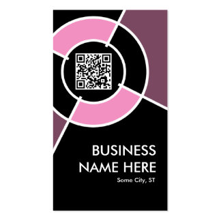 pink QR code and logo target Double-Sided Standard Business Cards (Pack Of 100)