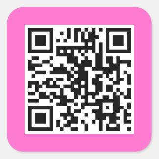Pink QR CODE Sticker