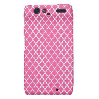 Pink Quatrefoil Motorola Droid RAZR Case